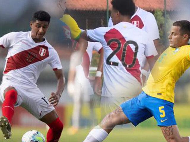 Sub 20: Perú cayó por goleada de 6-0 ante Brasil