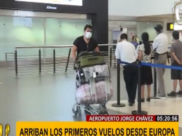 Primeros vuelos de Europa llegaron al aeropuerto Jorge Chávez