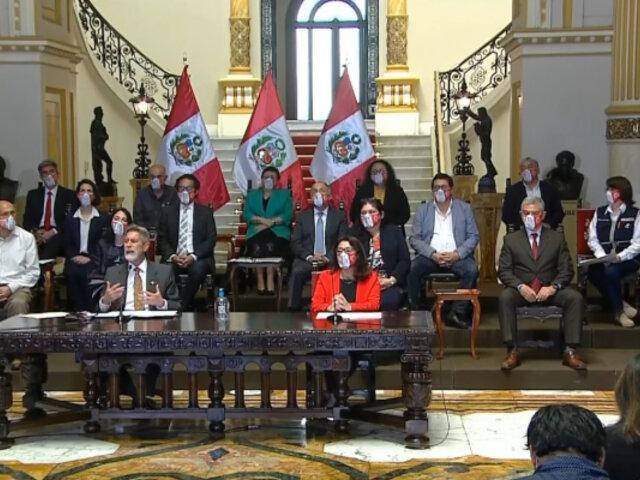 """Presidente Sagasti descartó cambios en el Gabinete: """"Hay plena confianza en ministros"""""""