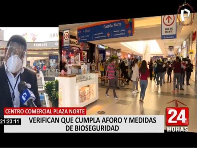 Plaza Norte: Independencia y Minsa realizaron inspección de cumplimiento de medidas sanitarias