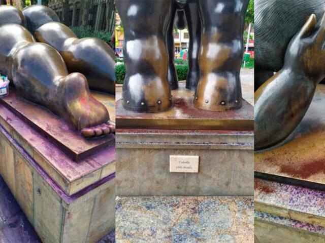Indignación en Colombia: nueve esculturas de Fernando Botero fueron vandalizadas