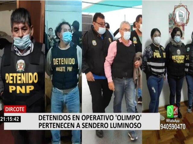 Dircote señala que falta capturar a 17 presuntos integrantes de Sendero Luminoso
