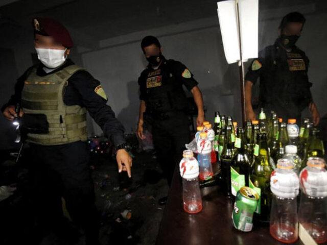 Detienen a cantante, músico y 77 personas durante fiesta clandestina en Huancayo