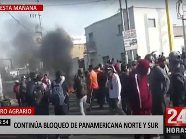 Segundo día de protesta agraria trajo bloqueos, enfrentamientos y vehículos varados