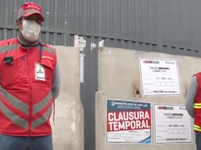 San Luis: clausuran terminal de colectiveros informales que operaba bajo fachada de car wash