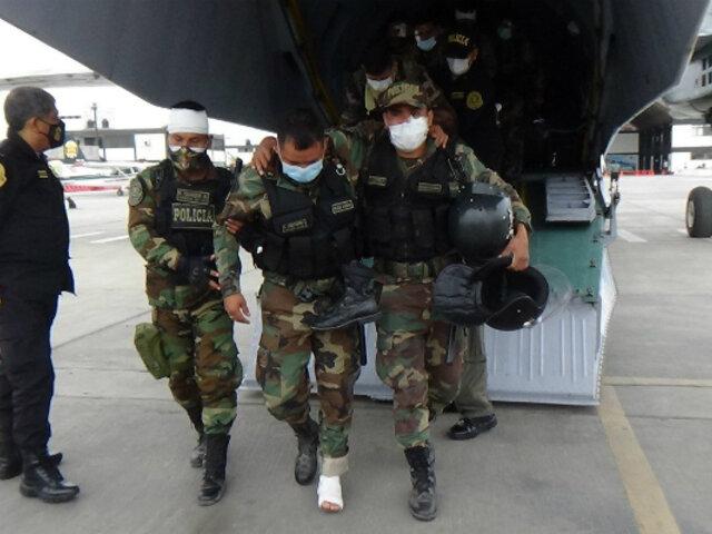 Protestas en Ica: PNP traslada a Lima a 24 agentes que resultaron heridos