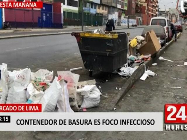 Cercado: vecinos piden al alcalde que retire insalubre contenedor de basura