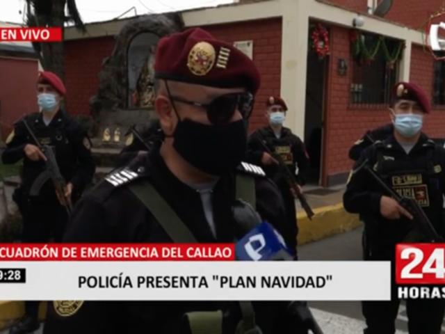 Policía Nacional presenta Plan Navidad 2020 en el Callao