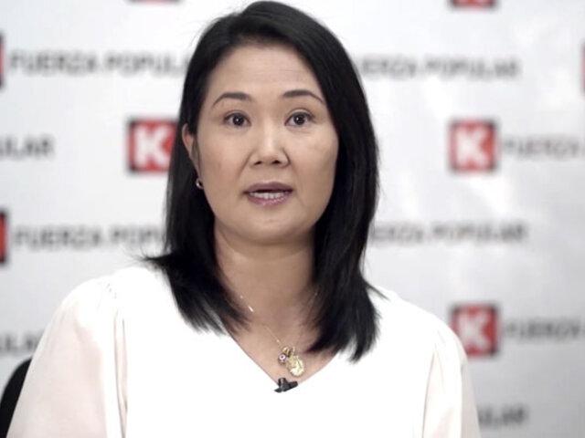 "Keiko Fujimori garantiza ""absoluto respeto"" a acusaciones fiscales si gana la presidencia"