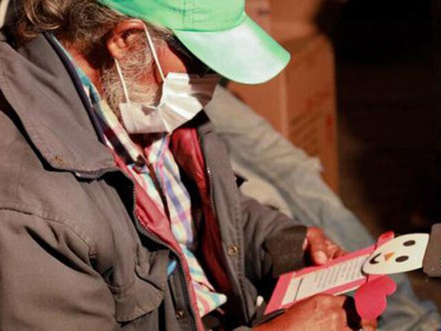 Navidad 2020: MML entregó cena y otros detalles a adultos mayores que viven en la calle
