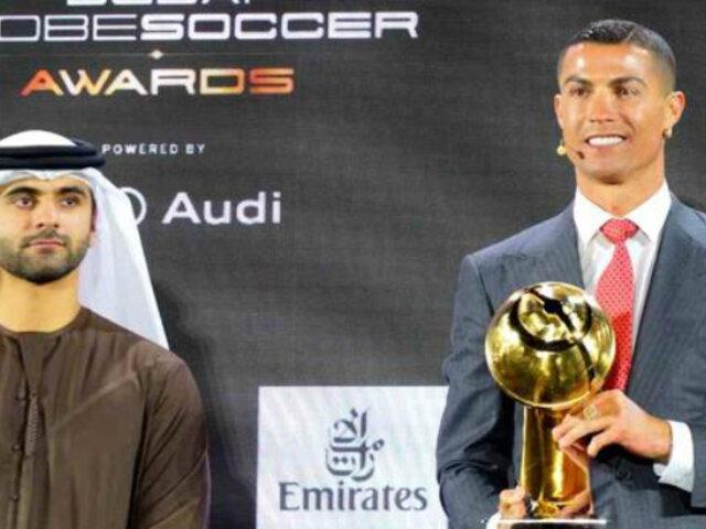 Cristiano Ronaldo es elegido mejor Jugador del Siglo en los Globe Soccer Awards