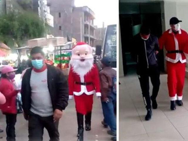 Huancayo: policías vestidos de Papá Noel capturan a delincuentes y requisitoriados