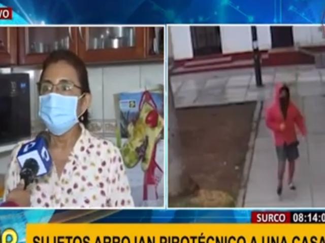 Surco: familia denuncia inseguridad luego de que su casa fuera atacada con cohetones
