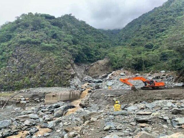Caída de huaico bloqueó tramo de carretera Interoceánica en Cusco