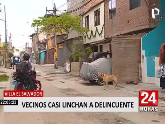 Perrito ayudó en captura de ladrón que casi fue linchado en Villa El Salvador