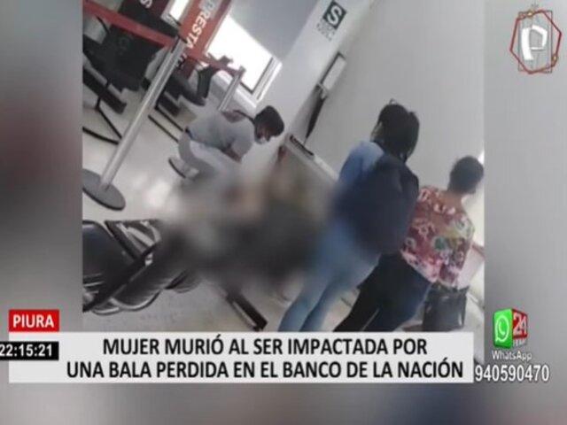 Piura: Profesora murió luego de recibir un impacto de bala en una agencia del Banco de la Nación