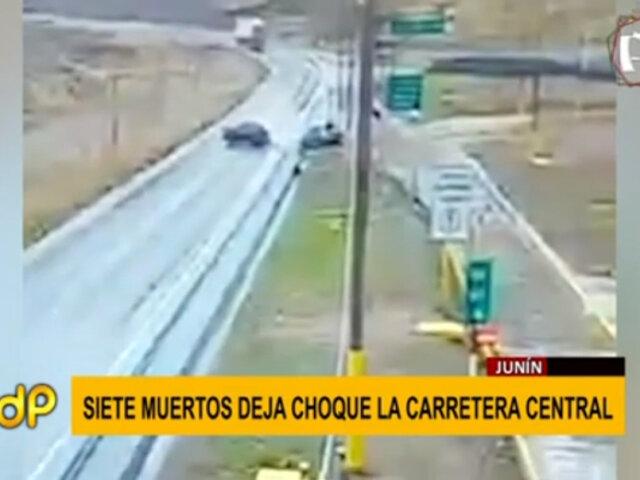 Junin: accidente de tránsito dejó 7 muertos en Carretera Central