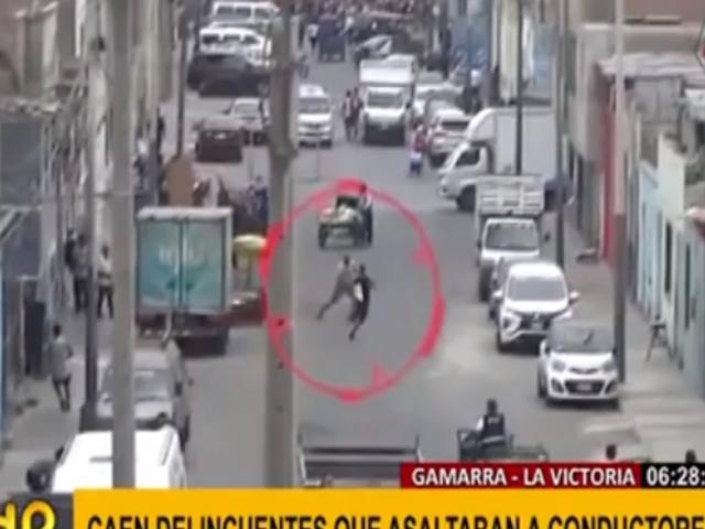 La Victoria: cae banda que era el terror de vehículos en Gamarra