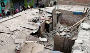 Cercado de Lima: rescatan a hombre que quedó atrapado tras derrumbe de su vivienda