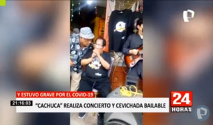 El Agustino: Cachucha brindó concierto en la puerta de su casa sin respetar protocolos sanitarios