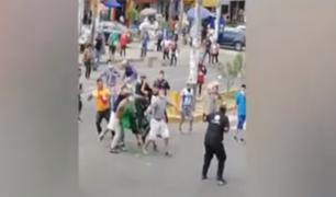 SJM: reportan brutal agresión a fiscalizadores que intentaban desalojar a comerciantes ambulantes