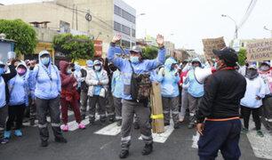 Callao: protestan trabajadores de limpieza pública