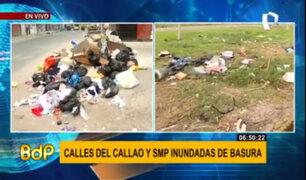 Calles del Callao y San Martín de Porres se encuentran inundadas de basura