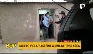 Capturan a sujeto que ultrajó y asesinó a niña de dos años en Trujillo