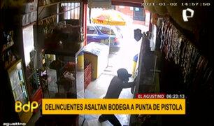 El Agustino: delincuentes amenazaron y asaltaron a dueños de bodega