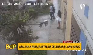 Cámaras de seguridad registraron asalto a una pareja horas antes de Año Nuevo en Trujillo