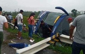Reportan varios muertos tras despiste de bus de la empresa Transmar en Pucallpa