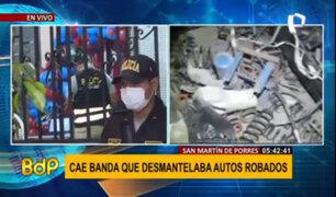 Diviac desarticuló organización criminal dedicada a desmantelar y robar vehículos