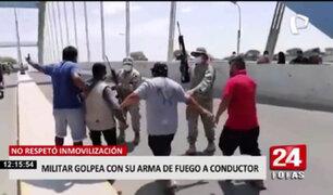 Piura: Militar golpeó a conductor y realizó disparos al aire