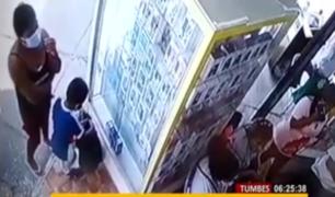 Tumbes: cae 'tendera' que utilizaba a niño para robar