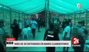 Tumbes: más de 50 personas fueron intervenidas en bares clandestinos