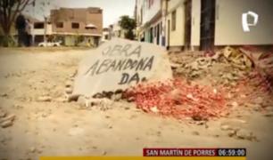 Hartos: vecinos de SMP comienzan el año con calles y pistas destruidas