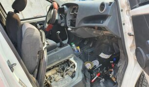 Megaoperativo en diversos distritos de Lima permitió desarticular a ladrones de autopartes