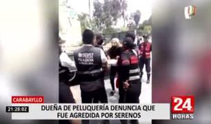Carabayllo: dueña de peluquería denuncia que fue agredida por serenos del distrito