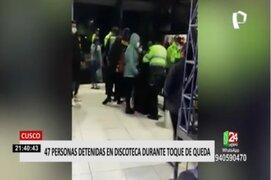 Cusco: PNP intervino a 47 personas en una discoteca durante toque de queda