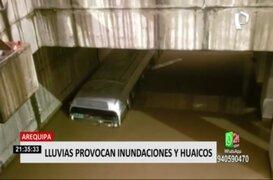 Arequipa: lluvias provocaron inundaciones y huaicos en la Ciudad Blanca