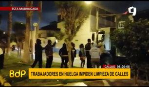 Trabajadores en protesta impiden limpieza de calles en el Callao