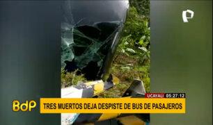 Ucayali: despiste de bus dejó tres muertos y varios heridos