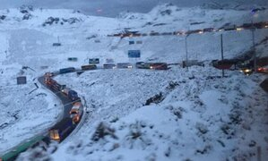 Carretera Central: continúa venta de pasajes pese a bloqueos por nevadas
