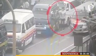 Independencia: agentes Terna capturan en flagrancia a ladrón de celulares