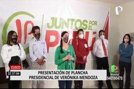 Cusco: Verónika Mendoza presentó a sus candidatos al Congreso por esa región