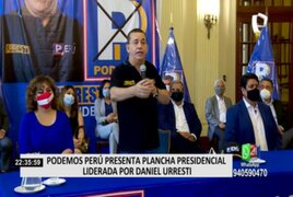 Elecciones 2021: Daniel Urresti presentó su plan de gobierno