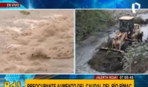 Descartan riesgo en túnel de Lima Expresa por crecida del río Rímac