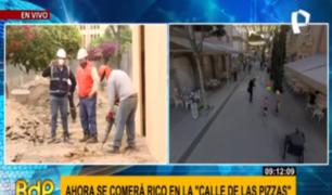 Miraflores: obras de pasaje San Ramón para boulevard gastronómico terminarán en abril