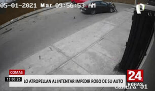 Comas: sujeto es atropellado al impedir robo de su auto