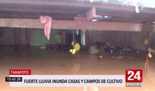 Tarapoto: Fuerte lluvia inundó casas y ciudadanos solicitan ayuda de las autoridades